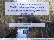 High Gradient Macroinvertebrate Index - State of New Jersey