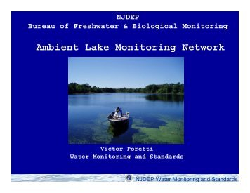 Ambient Lake Monitoring Network - State of New Jersey