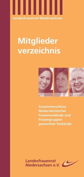 Mitglieder verzeichnis - Landesfrauenrat Niedersachsen e.V.