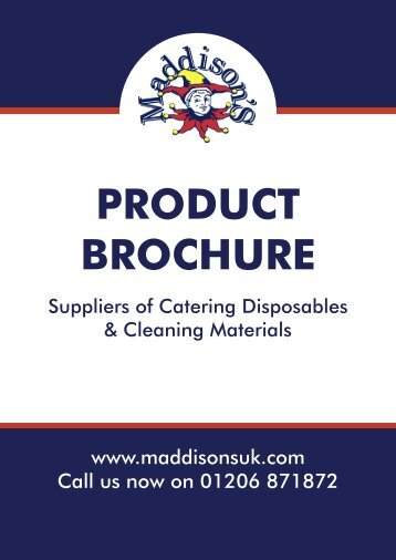 PRODUCT BROCHURE - Maddisons