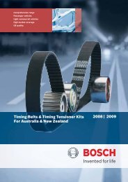 Timing belts cover 2008.indd - Bosch Australia