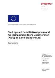 Risikokapitalmarkt Brandenburg.pdf - Ministerium für Wirtschaft und ...