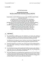 Version 2008 WELTÄRZTEBUND (WMA) DEKLARATION VON HELSINKI Ethische ...