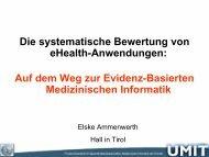 Die systematische Bewertung von eHealth-Anwendungen: Auf dem ...