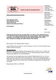 Herrn Bürgermeister Ulrich-Michael Iwanow Gemeinde ... - BfB Kürten