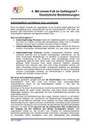 Aufsichtspflicht und Haftung: Kurz und bündig