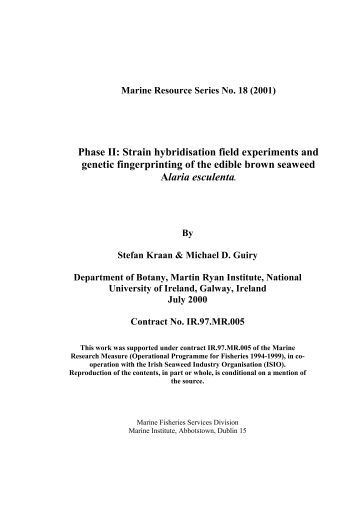 Final Report: - Marine Institute Open Access Repository