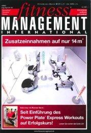 Die Zeitschrift Fitness Management International - Gesundheit im ...