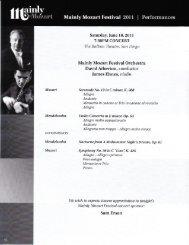 Mainly Mozart Festival Orchestra David Atherton ... - San Diego