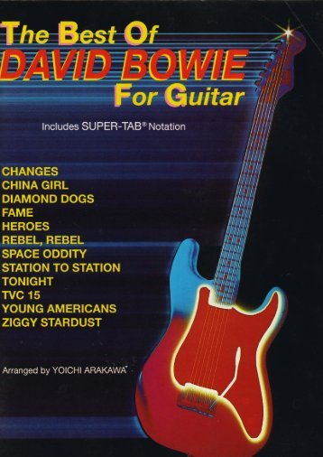 David Bowie - The best of for guitar - LeadSheetMusic