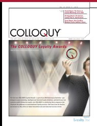5 / The COLLOQUY Loyalty Awards