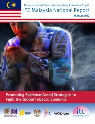 ITC Malaysia National Report - malaysian health promotion board