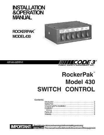 RockerPak™ Model 430 SWITCH CONTROL - Code 3
