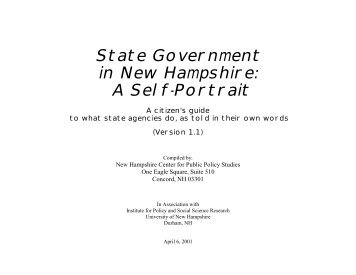 A Self-Portrait - New Hampshire Center for Public Policy Studies