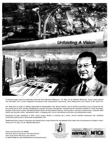 Citation for Tun Dr Mahathir Mohamad - Perdana Library