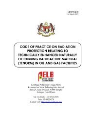 Code Of Practice On Radiation Protection Relating To - AELB