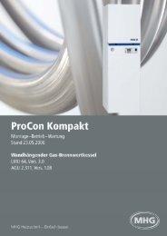 Montage-, Inbetriebnahme und Wartungsanleitung ProCon GWB ...