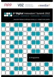 5th Digital - Digital Innovators Summit - VDZ