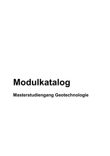 Modulbeschreibungen - Angewandte Geowissenschaften - TU Berlin