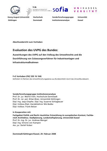 Evaluation des UVP-G - Hochschule Darmstadt