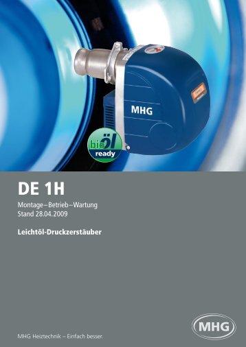 Montage–Betrieb–Wartung Stand 28.04.2009 Leichtöl ...