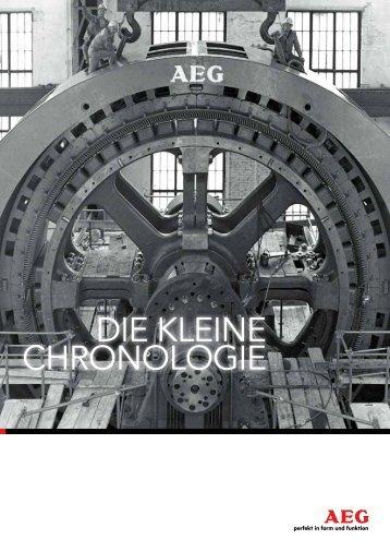DIE KLEINE CHRONOLOGIE - Deutsches Technikmuseum Berlin