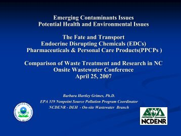 Emerging Contaminants Issues Potential Health and Environmental ...