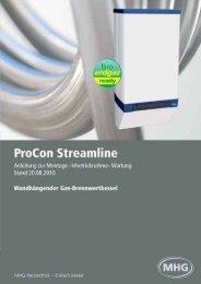 und Bedienungsanleitung ProCon Streamline