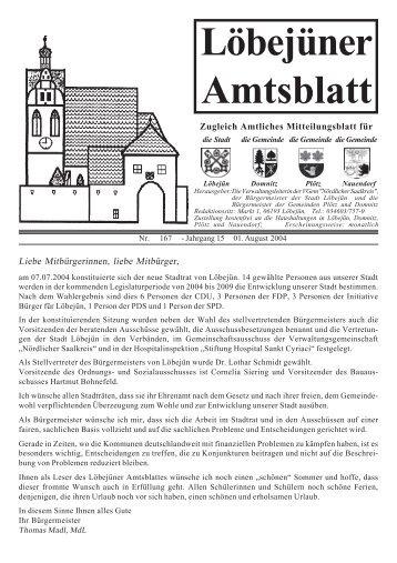 Löbejüner Amtsblatt August 2004
