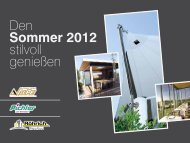 Den Sommer 2012 stilvoll genießen - Pichler