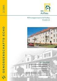 genossenschafts-echo - Wohnungsgenossenschaft Aufbau Dresden ...