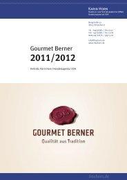 Gourmet Berner Katalog / Preisliste 2011/2012 - Karin ... - frauhorn.de