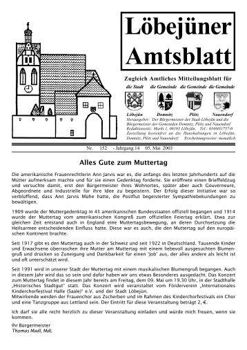 """Öffnungszeiten der Verwaltungsgemeinschaft """"Nördlicher ... - Löbejün"""