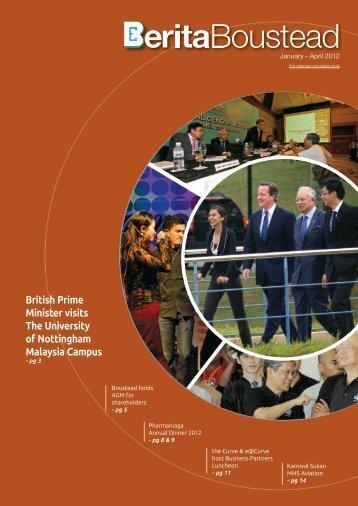 British Prime Minister visits The University of Nottingham Malaysia ...