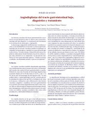 Angiodisplasias del tracto gastrointestinal bajo ... - E-journal