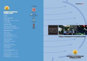 College of Management & Economics Studies - Upes