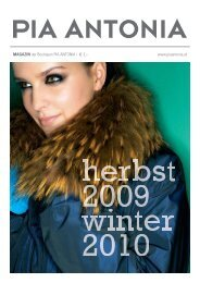 PIA ANTONIA Magazin, Herbst/Winter 2009/2010