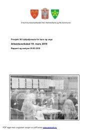 Referat fra arbeidsverksted 19. mars 2010 - 3-K