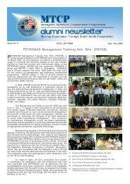 PETRONAS Management Training Sdn. Bhd. (PMTSB) - EPU