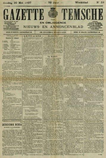 76'Jaar - Weekblad N* 52 GAZETTE VAN TEMSCHE