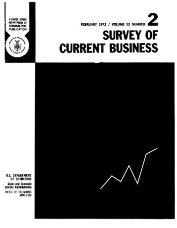 current business statistics - Bureau of Economic Analysis