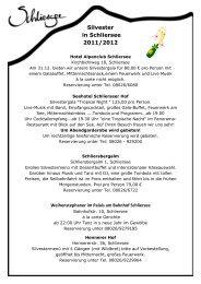 Silvester in Schliersee 2011/2012
