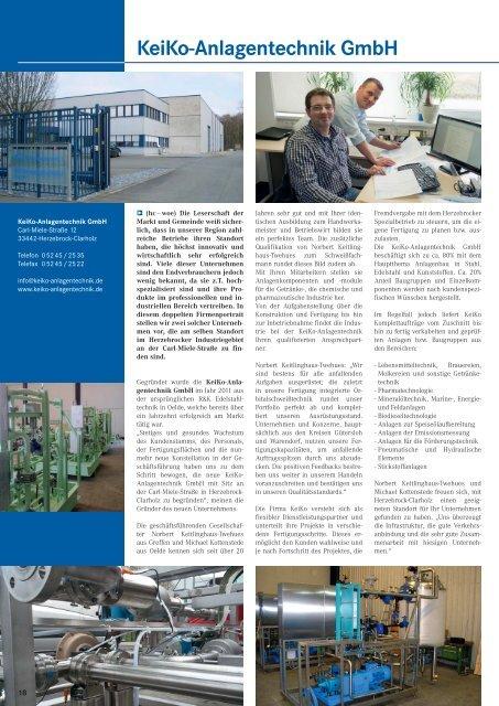 KeiKo-Anlagentechnik GmbH - Gewerbeverein Herzebrock-Clarholz