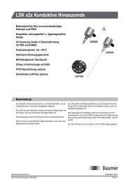 LSK x2x Konduktive Niveausonde - Baumer