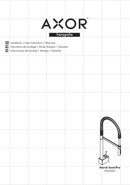 Assembly instruction (PDF) Mixer - Hansgrohe PRO