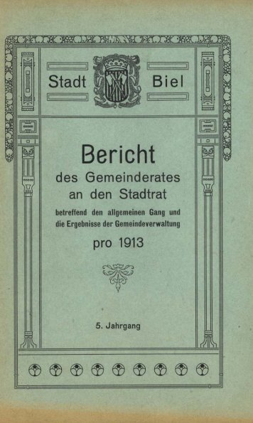 Bericht - Stadt Biel