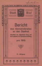 Stadt Biel 1918