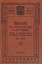 Stadt Biel 1914