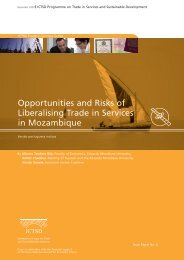 Opportunities and Risks of Liberalising Trade in Services in ... - ictsd