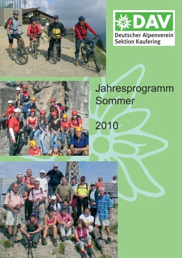 Jahresprogramm Sommer 2010